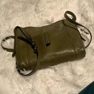 Fossil - Olive Green Leather Crossbody Purse